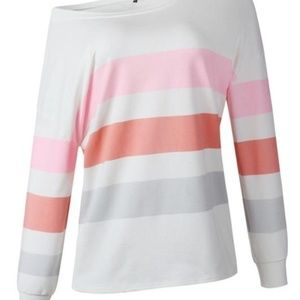 Brand new with tags striped sweatshirt